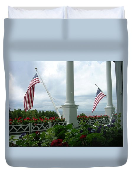 Grand Hotel Flags Duvet Cover