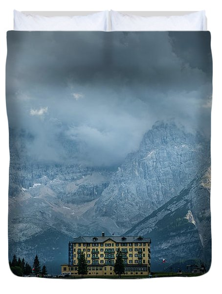 Grand Hotel Misurina Duvet Cover