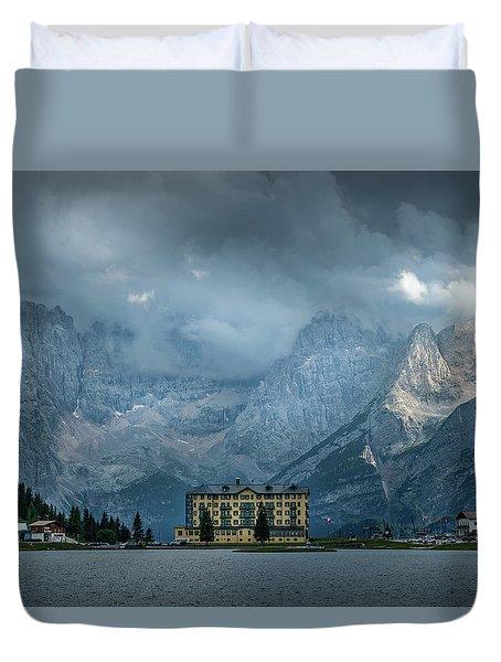 Grand Hotel Misurina Duvet Cover