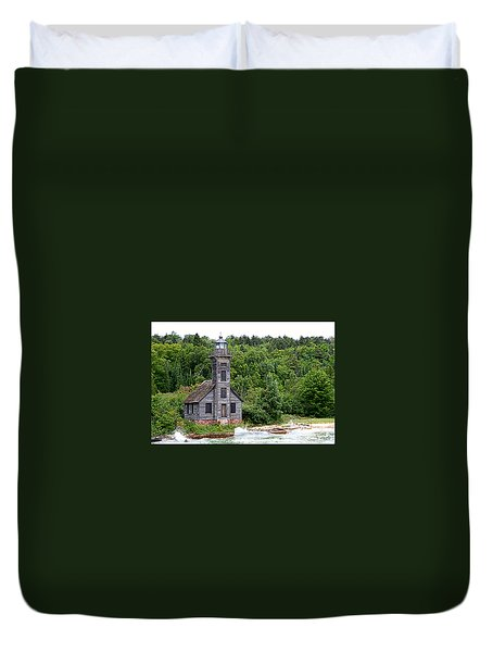 Grand Island East Channel Lighthouse #6680 Duvet Cover