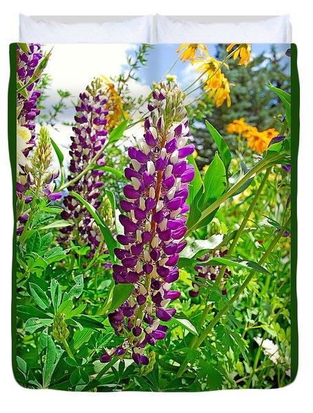 Grand Lake Purple Duvet Cover