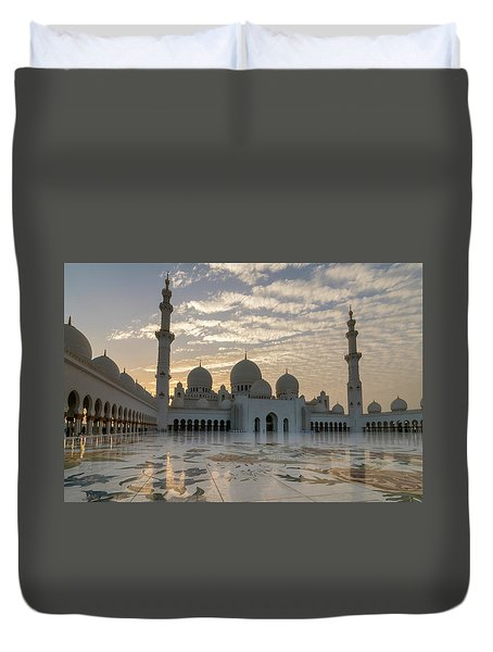Grand Mosque Sunset Duvet Cover