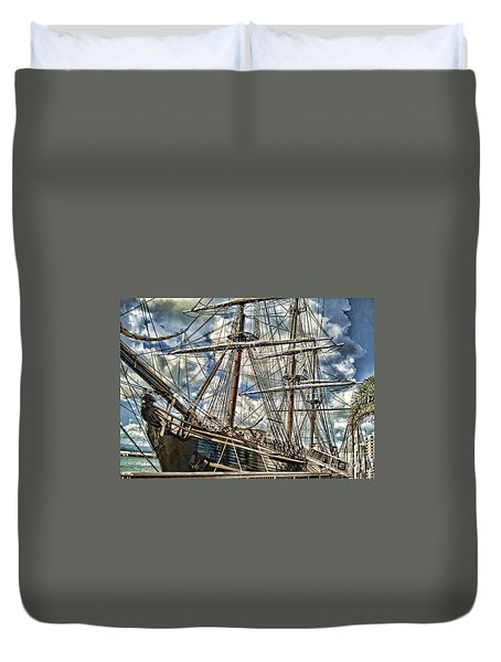 Duvet Cover featuring the photograph Grand Old Sailing Ship by Roberta Byram