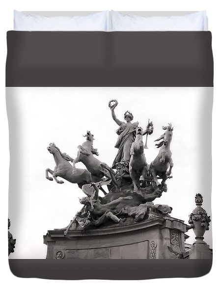 Grand Palais Quadriga Duvet Cover