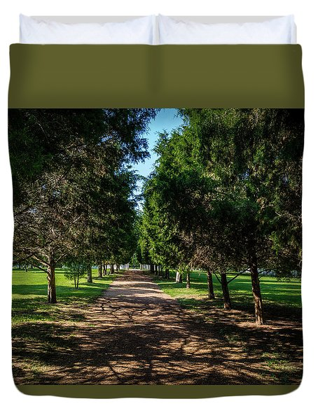 Duvet Cover featuring the photograph Grand Pathway - The Hermitage by James L Bartlett