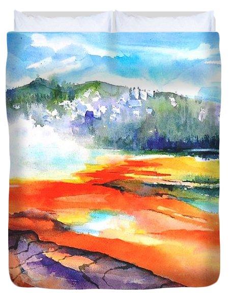 Grand Prismatic Hot Spring Duvet Cover