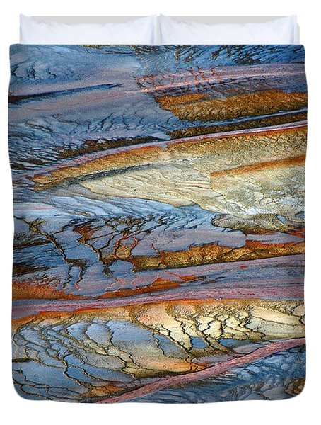 Grand Prismatic Runoff Duvet Cover by Bruce Gourley