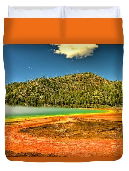 Grand Prismatic Spring Duvet Cover
