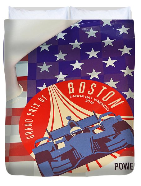 Grand Prix Of Boston Duvet Cover