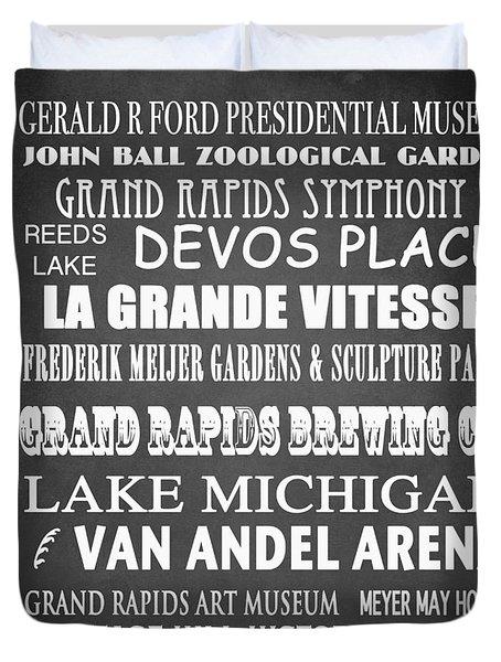 Grand Rapids Famous Landmarks Duvet Cover