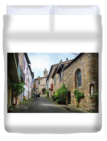 Grand Rue De L'horlogue In Cordes Sur Ciel Duvet Cover