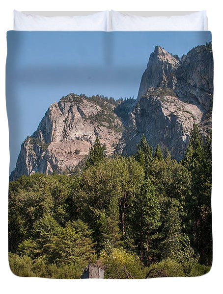 Grand Sentinel Zumalt Meadow Kings Canyon National Park Duvet Cover