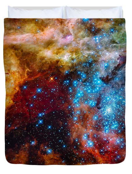 Grand Star-forming Region Duvet Cover by Marco Oliveira