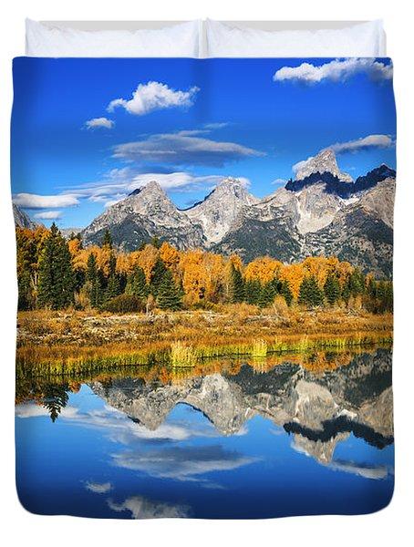 Grand Teton Autumn Beauty Duvet Cover