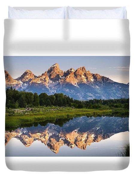 Grand Teton Awakening Duvet Cover