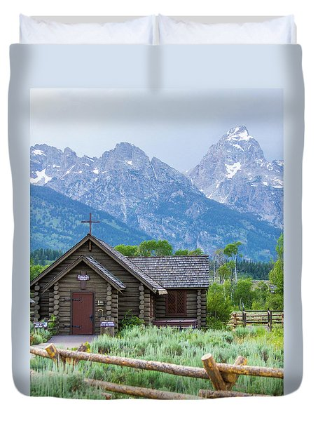 Grand Teton Church Duvet Cover