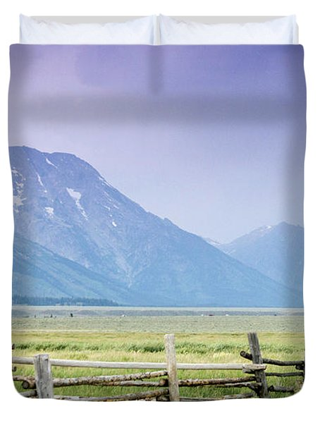 Grand Teton Homestead Duvet Cover