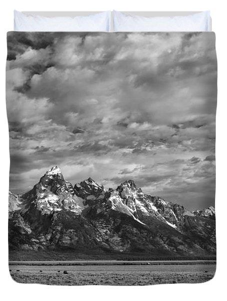 Grand Teton Majesty Duvet Cover by Sandra Bronstein