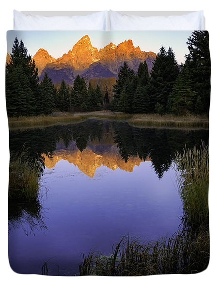 Grand Teton Morning Duvet Cover