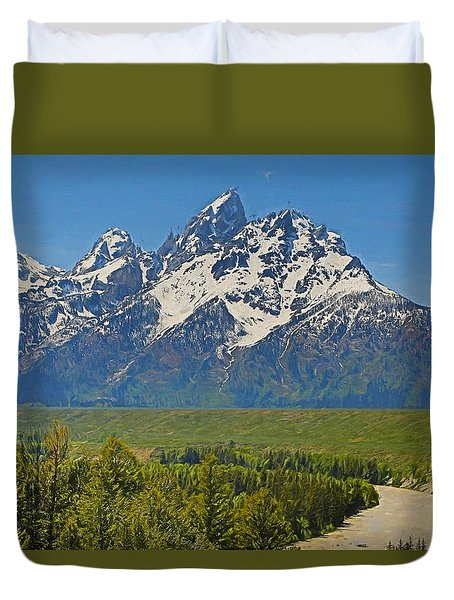 Grand Teton National Park And Snake River Duvet Cover
