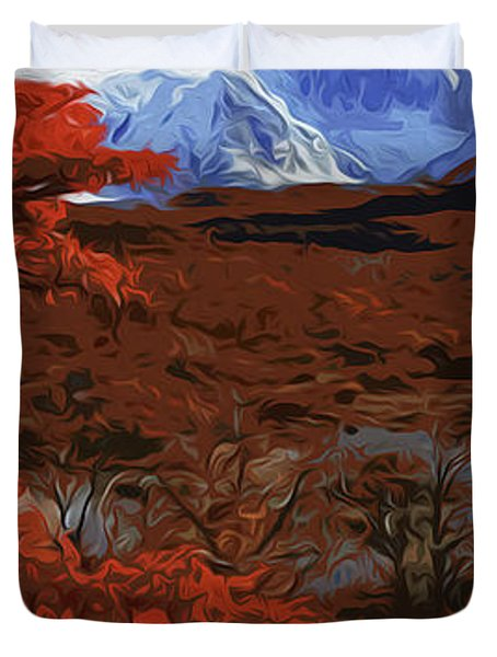 Grand Teton National Park In Autumn Duvet Cover