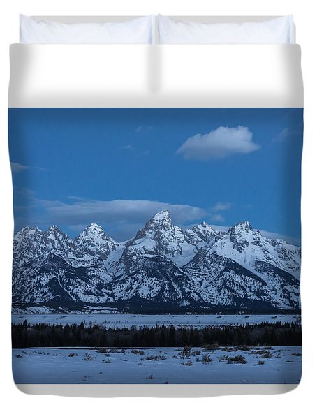 Grand Teton National Park Sunrise Duvet Cover
