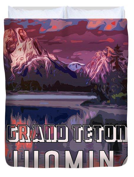 Grand Teton Park - Wyoming Duvet Cover