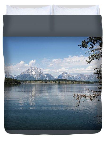 Grand Teton Range Duvet Cover