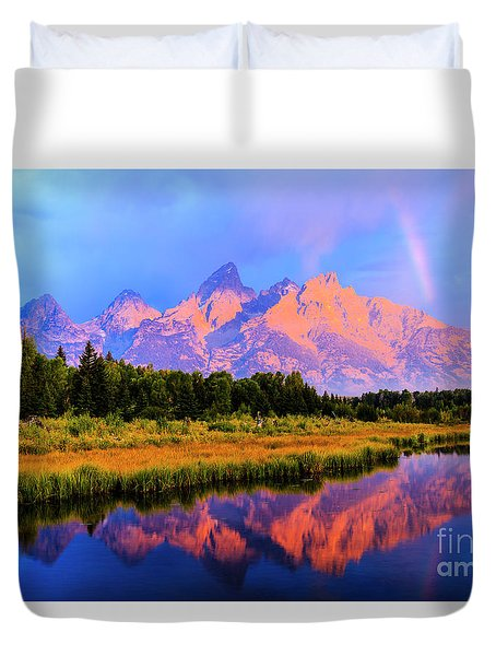 Grand Teton Sunrise Duvet Cover