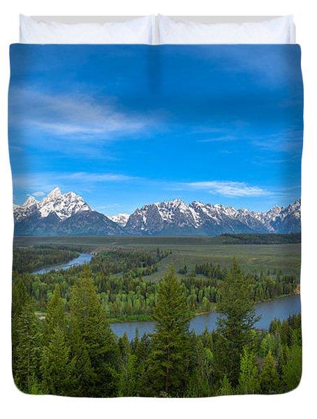 Grand Teton Vista Duvet Cover