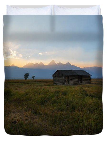 Grand Tetons Mormon Row Sunset Duvet Cover