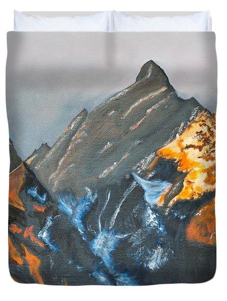 Grand Tetons On Fire Duvet Cover