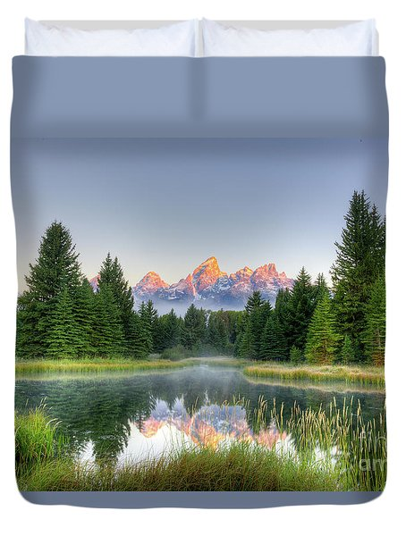 Grand Tetons Sunrise 2 Duvet Cover