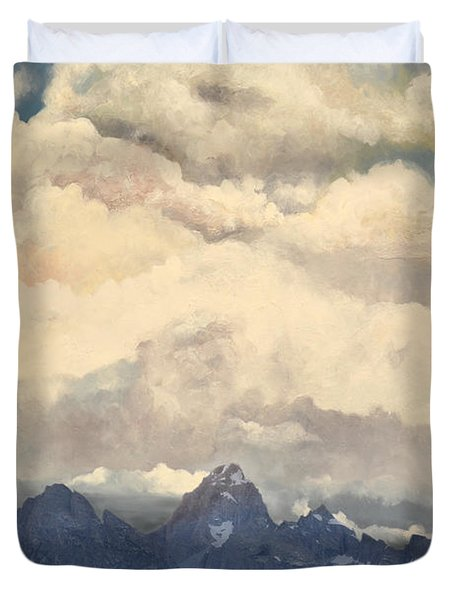 Grand Tetons  Sky Duvet Cover