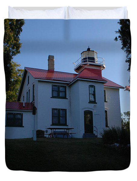 Grand Traverse Light House Duvet Cover