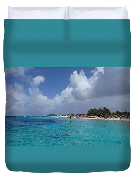 Grand Turk Beach Duvet Cover by Lois Lepisto