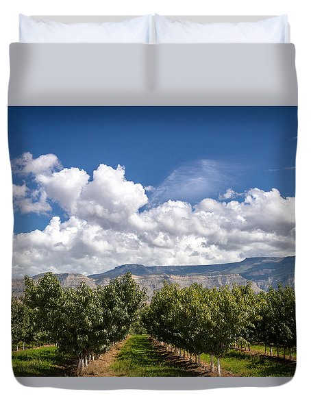 Grand Valley Orchards Duvet Cover