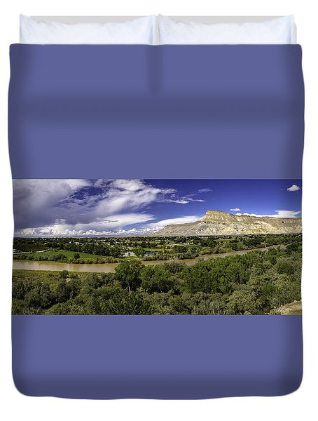 Grand Valley Panoramic Duvet Cover