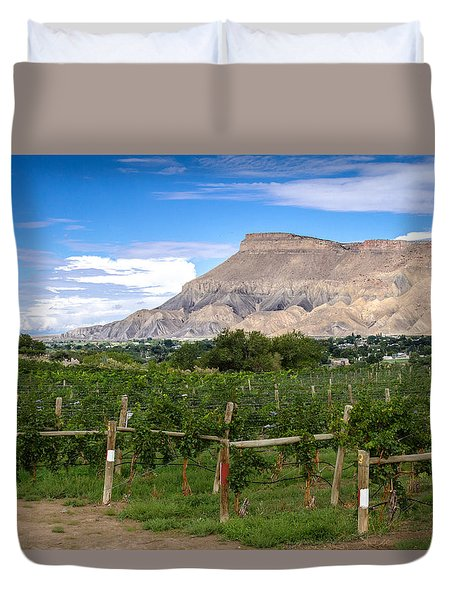 Grand Valley Vineyards Duvet Cover