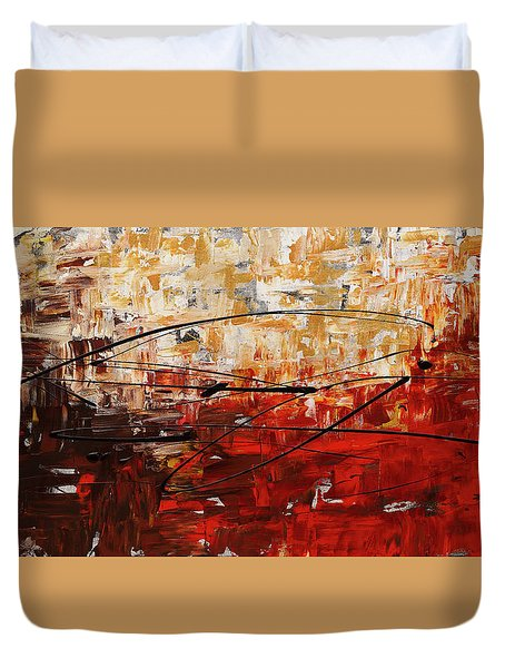 Duvet Cover featuring the painting Grand Vision by Carmen Guedez