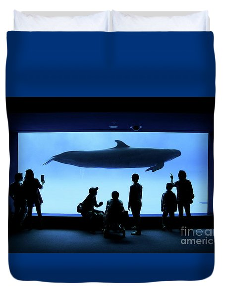Duvet Cover featuring the photograph Grand Whale by Tatsuya Atarashi