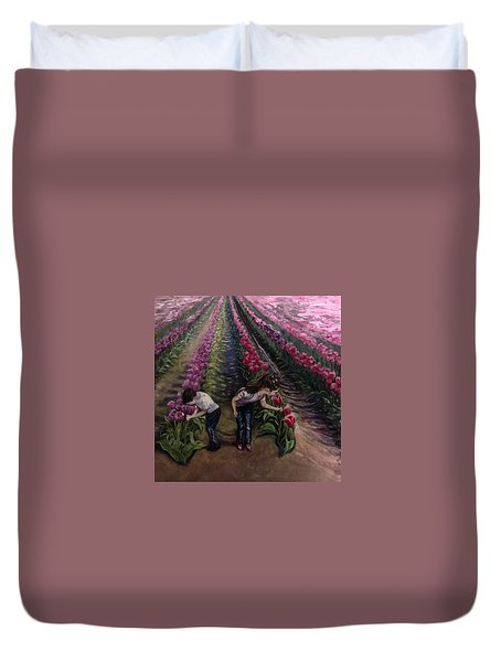 Grandchildren At Roosengaarde  Duvet Cover