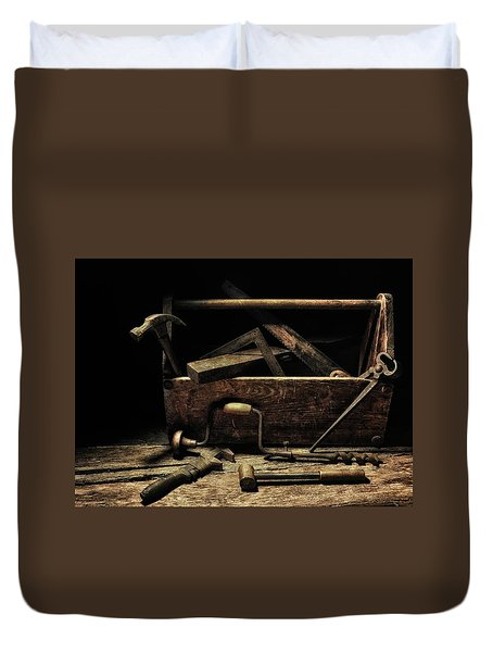 Duvet Cover featuring the photograph Granddad's Tools by Mark Fuller