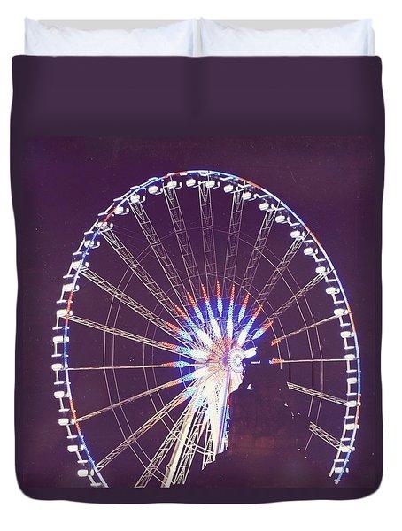 Grande Roue De Paris By Night Duvet Cover