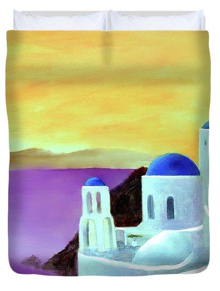 Grandeur Of Greece Duvet Cover