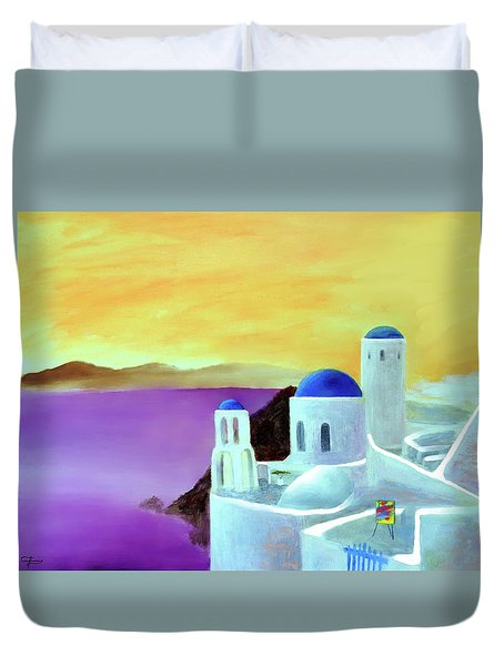 Grandeur Of Greece Duvet Cover