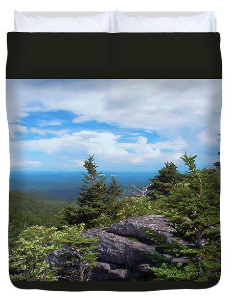 Grandfather Mountain Duvet Cover