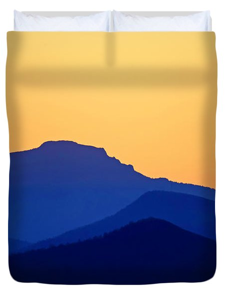 Grandfather Sunset Duvet Cover by Dale R Carlson