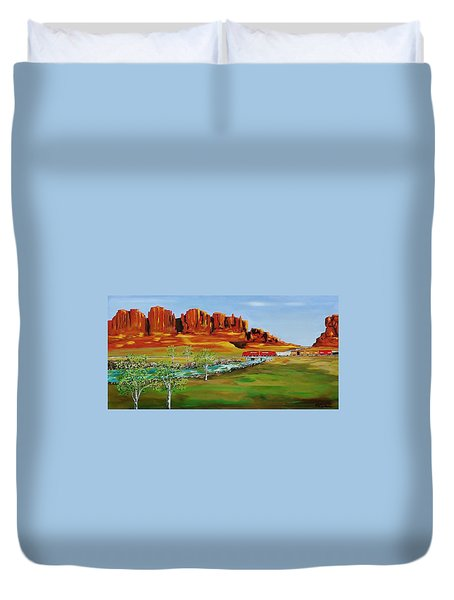 Grandiose West  Duvet Cover by Mike Caitham