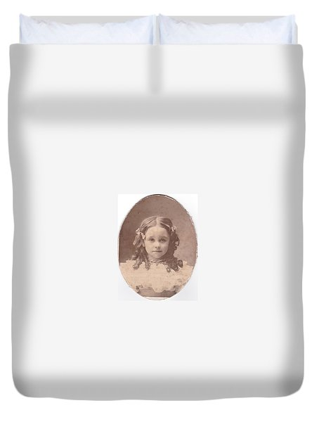 Grandma As A Young Girl Duvet Cover